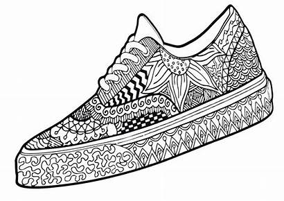 Coloring Sneakers Pages