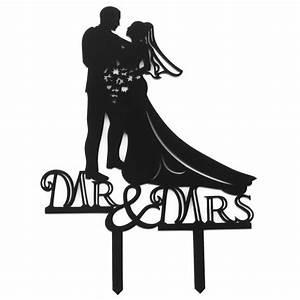 Aliexpress.com : Buy Black Romantic Cake Topper Kissing ...