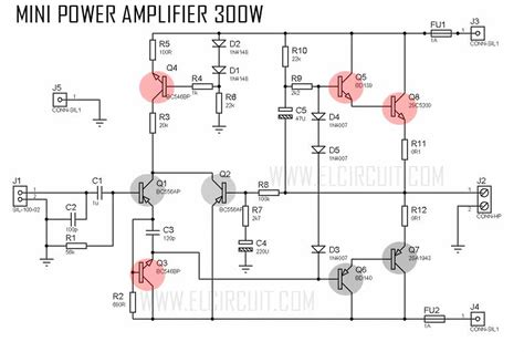 Mini Amplifier With High Power Output Electronic Circuit