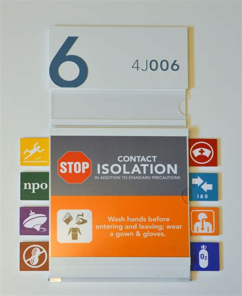 hospital door signs hospital signage reduces acquired infections l h sign