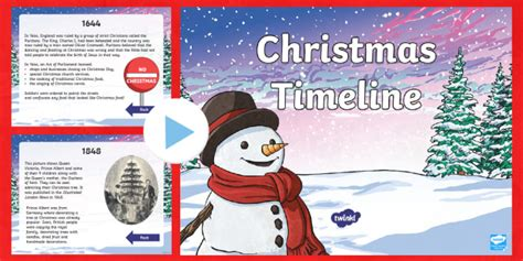 * New * Ks2 Christmas Timeline Powerpoint  When Was Christmas First