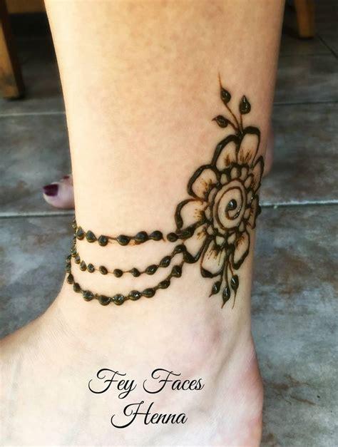 ankle henna tattoo ideas  pinterest henna ink