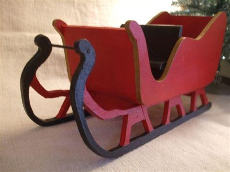 wooden christmas sleigh christmas crafts santa sleigh