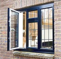 black casement window aluminium stride