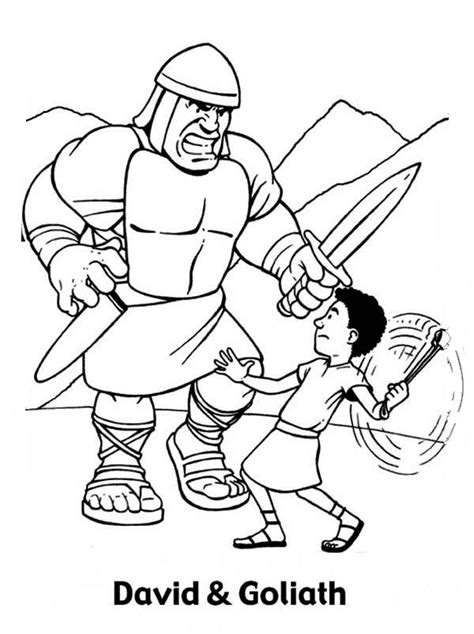 david  goliath coloring pages    print
