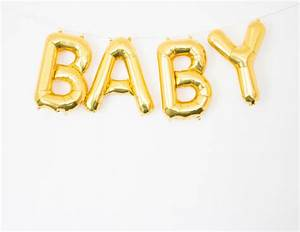 baby gold letter balloon banner baby shower decor baby With balloon letter banner