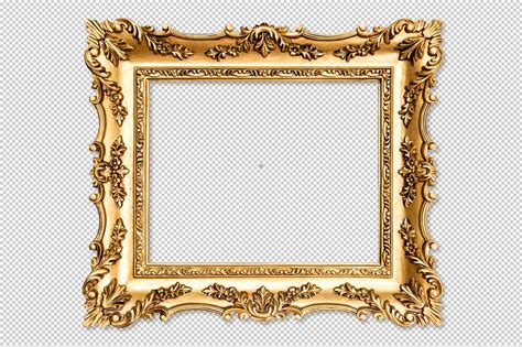 Baroque Golden Picture Frame Png ~ Graphic Objects
