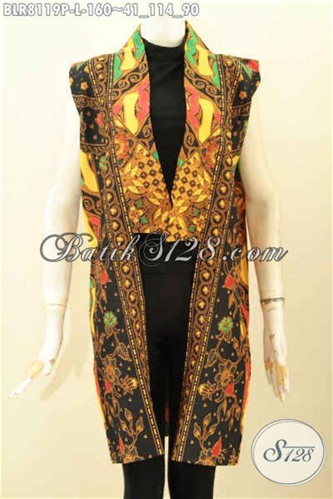 model baju batik wanita terkini outer batik panjang keren