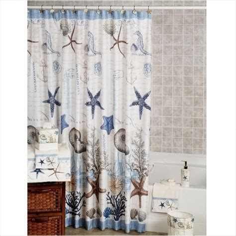 theme shower curtain seashore themed shower curtains unique seashells