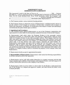 32 sales agreement form template With independent sales rep contract template