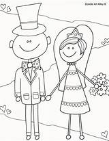 Coloring Pages Groom Bride Activity Colouring Reception Drawing Alley Doodle Fun Getdrawings sketch template