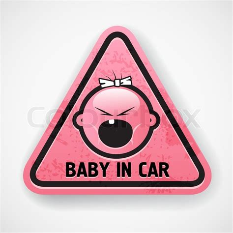 baby car girl pink decal sticker scream attention