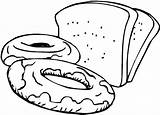Bread Coloring Pages Slices Sweets sketch template