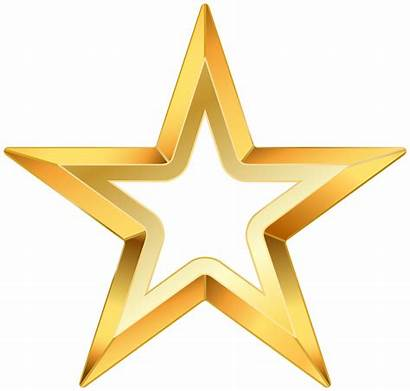 Gold Star Clipart Clip Transparent Starry Royalty