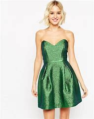 Green Metallic Mini Dress