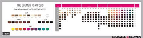 elumen color chart goldwell elumen portfolio 2015 color charts