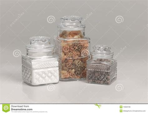 kitchen glass storage jars glass kitchen storage containers royalty free stock photo 4916