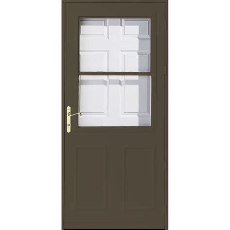 shop pella olympia brown high view wood retractable