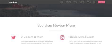 bootstrap navigation bar templates bootstrap navbar menu 4 free templates azmind