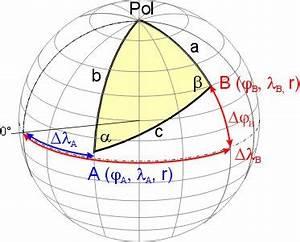Erdradius Berechnen : sph rische trigonometrie ~ Themetempest.com Abrechnung