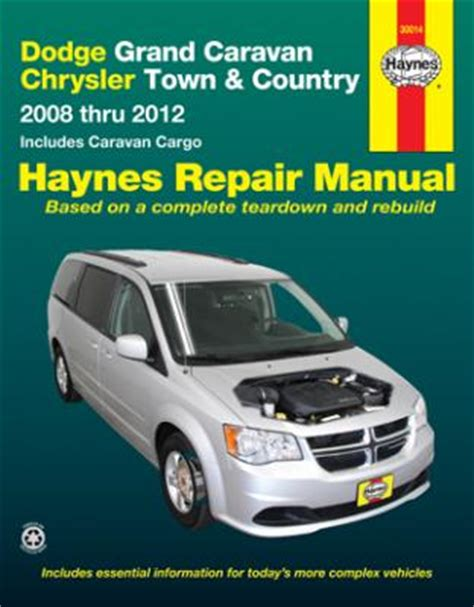 dodge grand caravan chrysler town country haynes repair manual 2008 2012 hay30014
