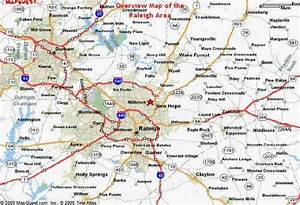 Map Of Raleigh Nc - HolidayMapQ.com