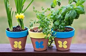 Thumbprint, Flower, Pot