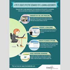 4 Tips To Create Effective #scenarios For #elearning Assessments  An #infographic Elearning