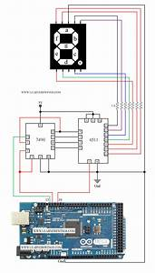 Circuit To Control A Common Cathode Seven Segment Display