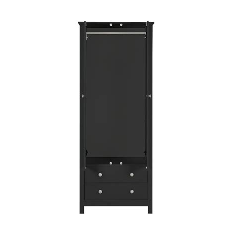 Black Wardrobe With Drawers by Florence 2 Door 2 Drawer Wardrobe In Black