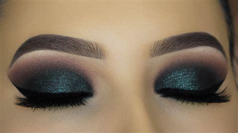 intense green smokey eyes makeup tutorial youtube
