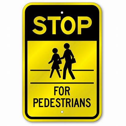 Stop Crosswalk Sign Pedestrians Reflective Mil Thick