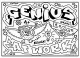 Graffiti Coloring Pages Words Diplomacy Graffitidiplomacy Signs Fun Draw Colouring Adults Quotes Genius sketch template
