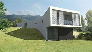 Maison, D, U0026, 39, Architecte, Moderne, Lyon