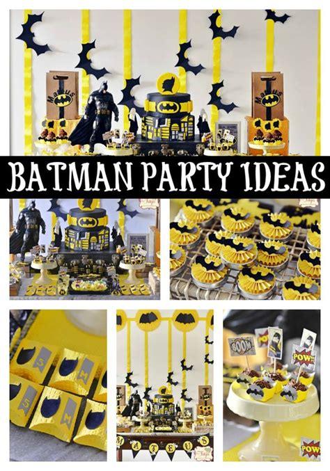 Batman Themed Birthday Party  Pretty My Party