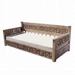 Hand Carved Grand Day Bed Omero Home