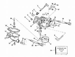 Evinrude Carburetor Parts For 1976 4hp 4606m Outboard Motor