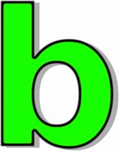 lowercase B green - /signs_symbol/alphabets_numbers ...