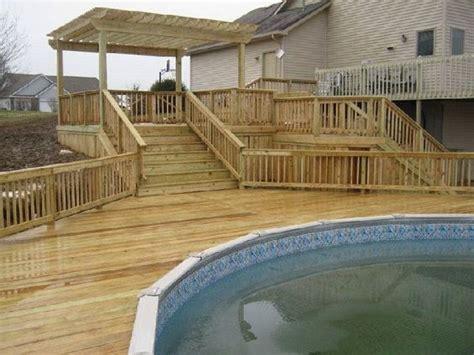 multi level  ground pool deck plansbut   case