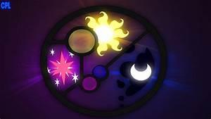 Twilight, Luna and Celestia Cutie Mark Wallpaper by Razley ...