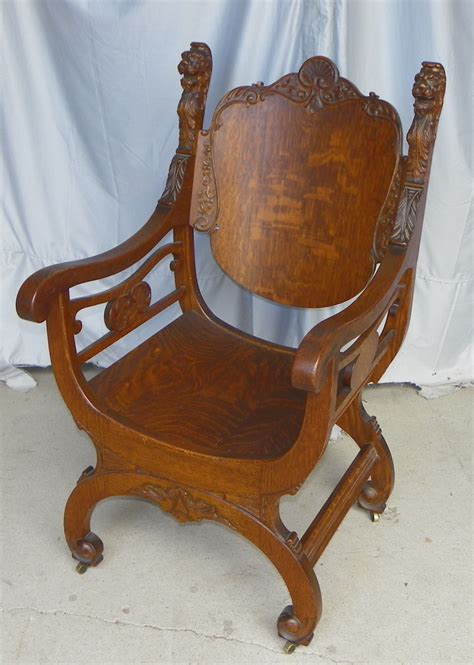 antique oak chair bargain s antiques antique oak throne 1292
