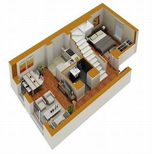 tiny house floor plans small residential unit 3d floor With small apartment floor plans 3d