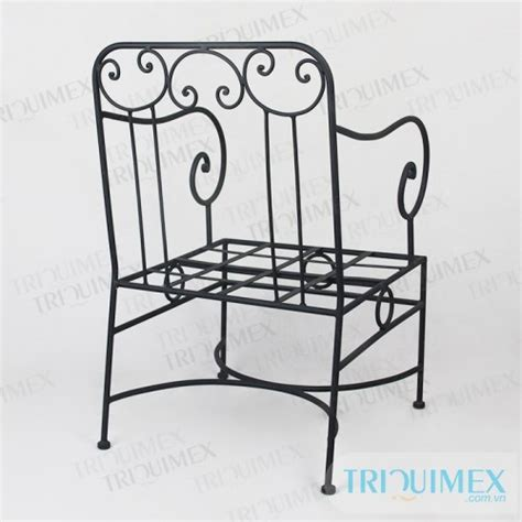 cusion means gh 142 wrought iron individual sofa