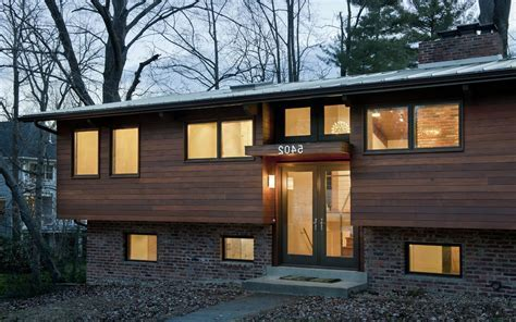 split foyer exterior update exterior contemporary with