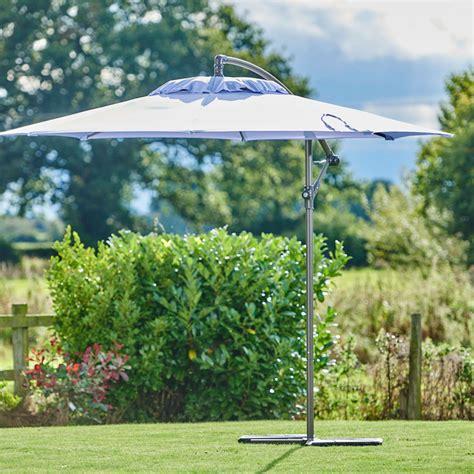 supremo free supremo riviera free arm parasol 3m lavender