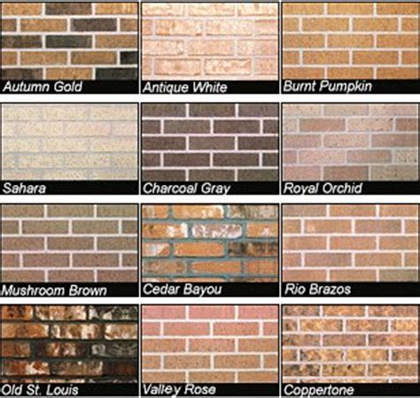 different brick colors in all acme brick company manufactures more than one thousand different colors textures and