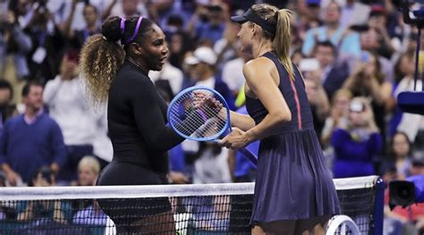 open serena williams strolls  maria sharapova