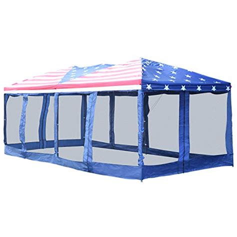 outsunny    pop  party tent gazebo wedding canopy  removable mesh sidewalls