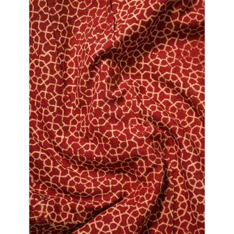 printing on cotton fabric red ajrak block print cotton fabric ia 269yrd05
