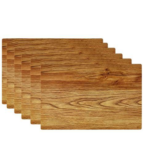 rangement bureau papier set de table design bois clair en vinyle set de 6